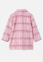 Cotton On - Cecilia check jacket - pink