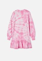 Free by Cotton On - Lani long sleeve dress - pink