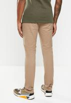 Jonathan D - Trousers with front pleats and side entry pockets  - tan