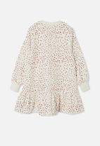 Free by Cotton On - Lani long sleeve dress - neutral