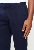Jonathan D - Denim jeans with side entry pockets straight leg - navy