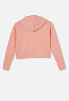 Free by Cotton On - Serena crop hoodie - peach