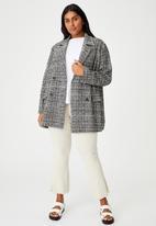 Cotton On - Curve fern blazer - black & white