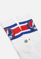 Stance Socks - Steal your boyd socks - white