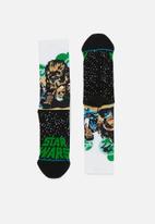Stance Socks - Stance chewbacca - black & green