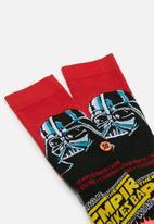 Stance Socks - Stance vader 40th - red & black