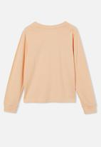 Free by Cotton On - Girls classic long sleeve tee - peach