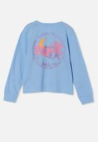 Free by Cotton On - Girls classic long sleeve tee - blue