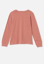 Free by Cotton On - Girls classic long sleeve tee - pink