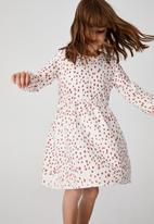 Cotton On - Savannah long sleeve dress - vanilla/fawn animal