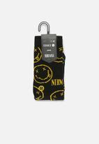 Stance Socks - Stance nirvana face - black & yellow
