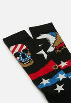Stance Socks - Stance freedom strike crew - black & red