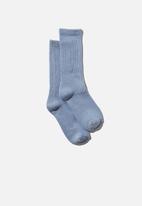 Cotton On - Club house crew sock - dusk blue
