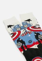 Stance Socks - Captain America marquee socks - multi