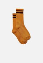 Cotton On - Club house crew sock - mustard/brown