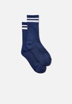 Cotton On - Club house crew sock - coastal blue