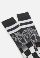 Stance Socks - Stance dipped - black & white