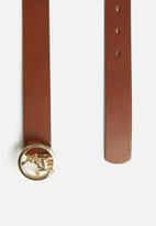 POLO - Sophie leather belt - tan