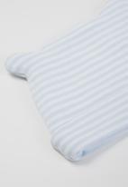 Little Lumps - Stripey ear hat - blue & white