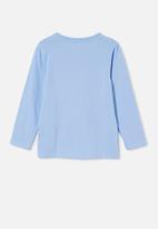 Cotton On - Stevie long sleeve embellished tee - dusk blue