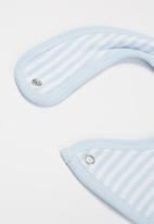 Little Lumps - Bib one size - blue & white