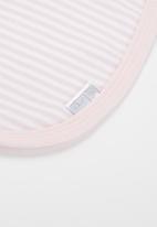 Little Lumps - Bib one size - pink & White