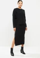 Brave Soul - Skirt & top set - black