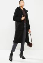 Brave Soul - Heavenly longline coat- black
