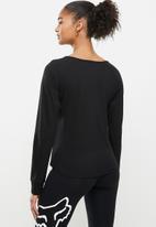 Fox - Boundary long sleeve top - black