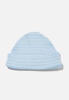 Cotton On - Organic newborn beanie - blue & white