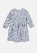 Cotton On - Savannah long sleeve dress - dusk blue