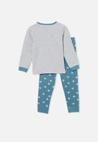 Cotton On - Orlando long sleeve pyjama set licensed - grey & teal