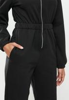 Blake - Brushed fleece jumpsuit - black