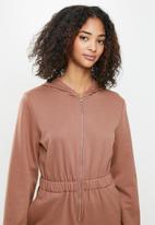 Blake - Brushed fleece jumpsuit - dusty pink