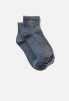 Cotton On - Club house quarter crew sock - coastal blue