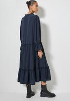 Superbalist - Volume tiered dress - navy