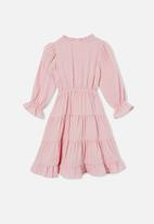Cotton On - Andie long sleeve dress - pink