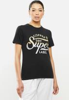 Superdry. - Copper label tee - black