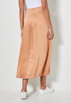 Superbalist - Lux bias slip skirt - bronze