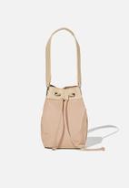 Rubi - Nylon bucket bag - brown taupe