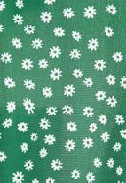 edit - Puff sleeve tiered maxi dress - green