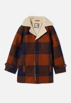 Free by Cotton On - Boys ranch jacket - amber brown & navy