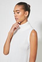 Superbalist - Organic cotton sleeveless knitwear dress - winter white