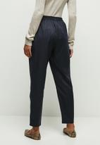 edit - Pull on tapered pant stripe - navy