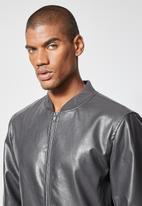 Superbalist - Nevada pu bomber jacket - dark grey