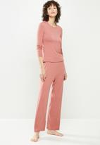 Superbalist - Sleep top & wide leg pants set - pink