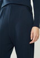 Superbalist - Sleep top & wide leg pants set - navy