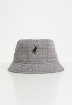 POLO - Mens brody check bucket hat - multi