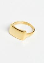 Lorne - Large top signet ring - gold