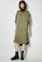 Superbalist - Viscose twill shirt dress - khaki